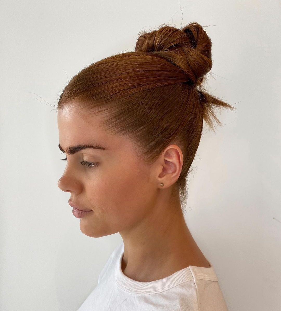 Easy Knotted Bun Updo for Long Hair