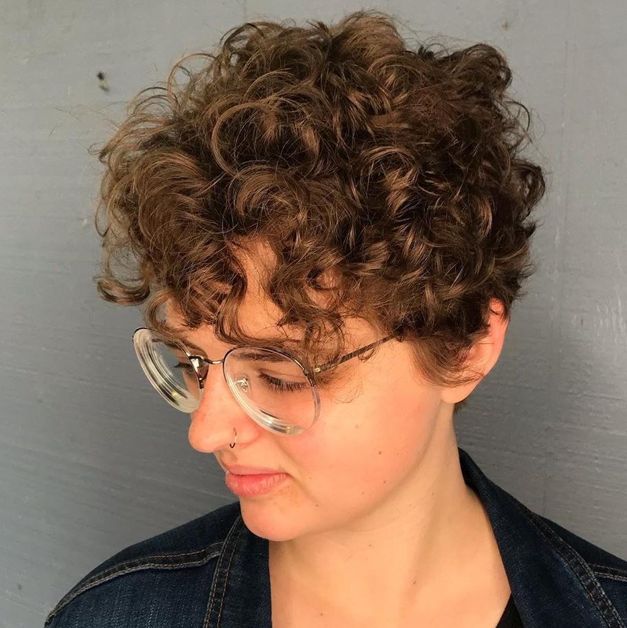 Curly Voluminous Pixie Cut