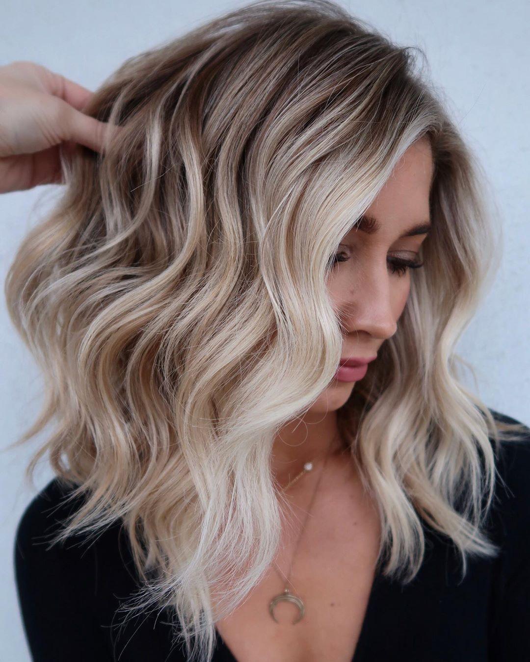 Balayage Blonde and Brown Hair
