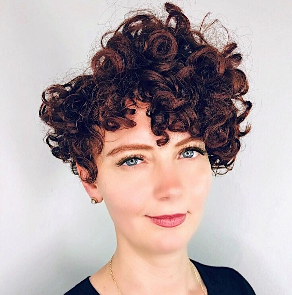 Pixie Cut with Messy Curls
