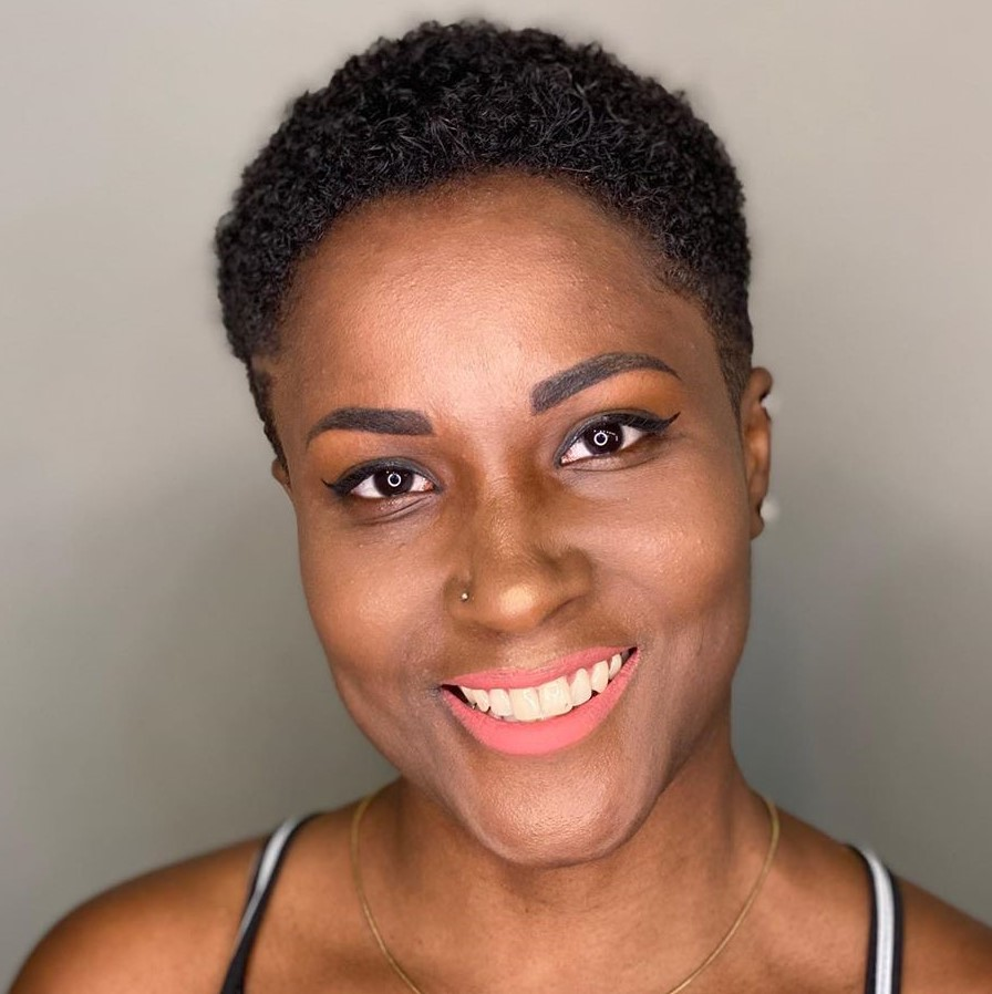 Super Short Curly Pixie for Natural Hair