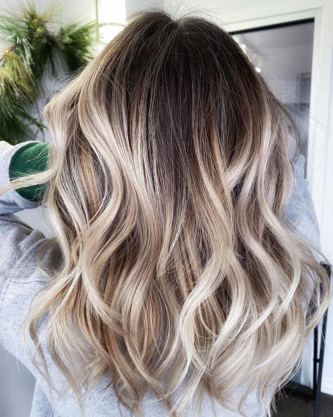 Trendy Ash Blonde Highlights