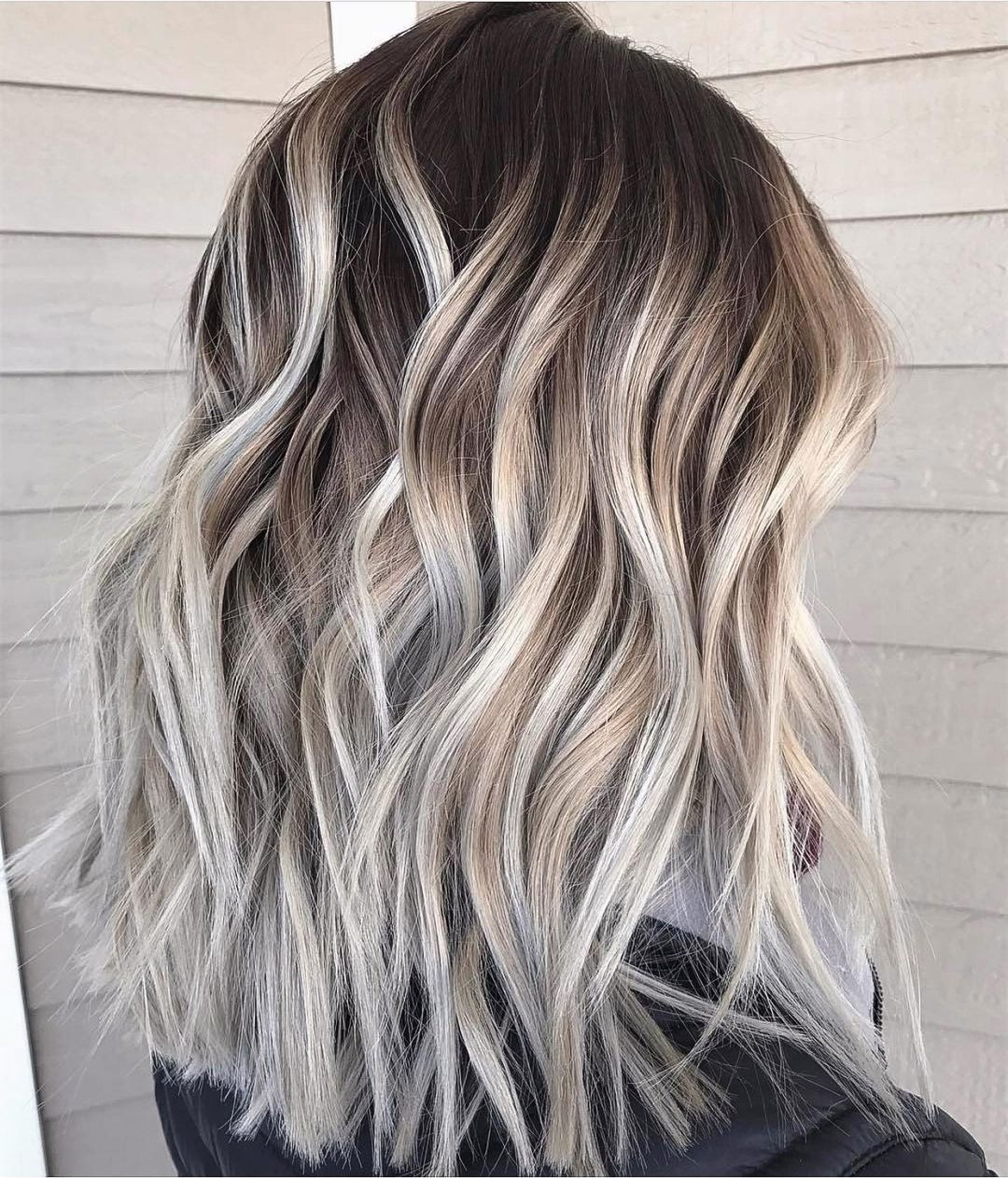 Silver and Blonde Balayage Highlights
