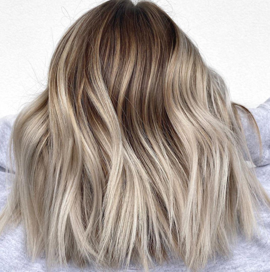 Stylish Ash Blonde Balayage
