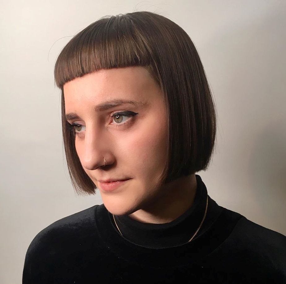 Blunt Bob with a Micro Fringe