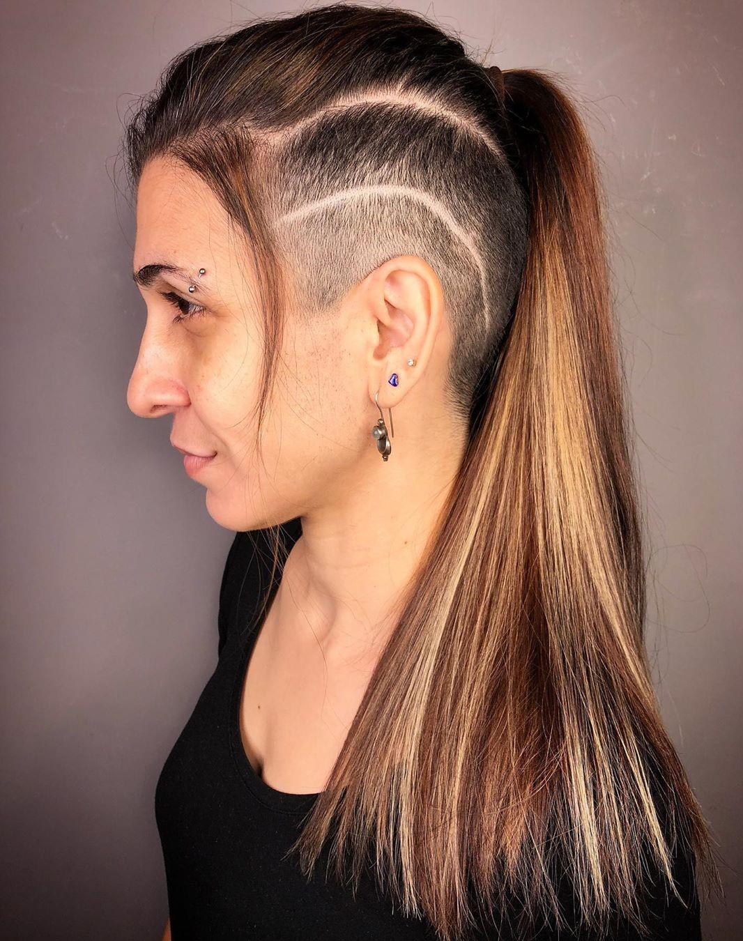 Mohawk Ponytail with Side Undercut