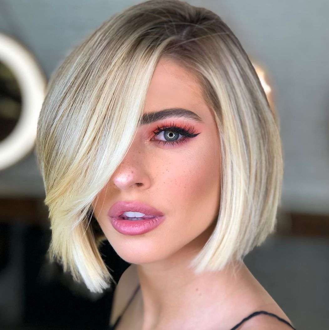 Asymmetrical Bob with Long Bangs