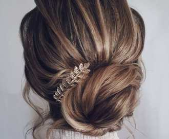 Low Bridal Bun Updo
