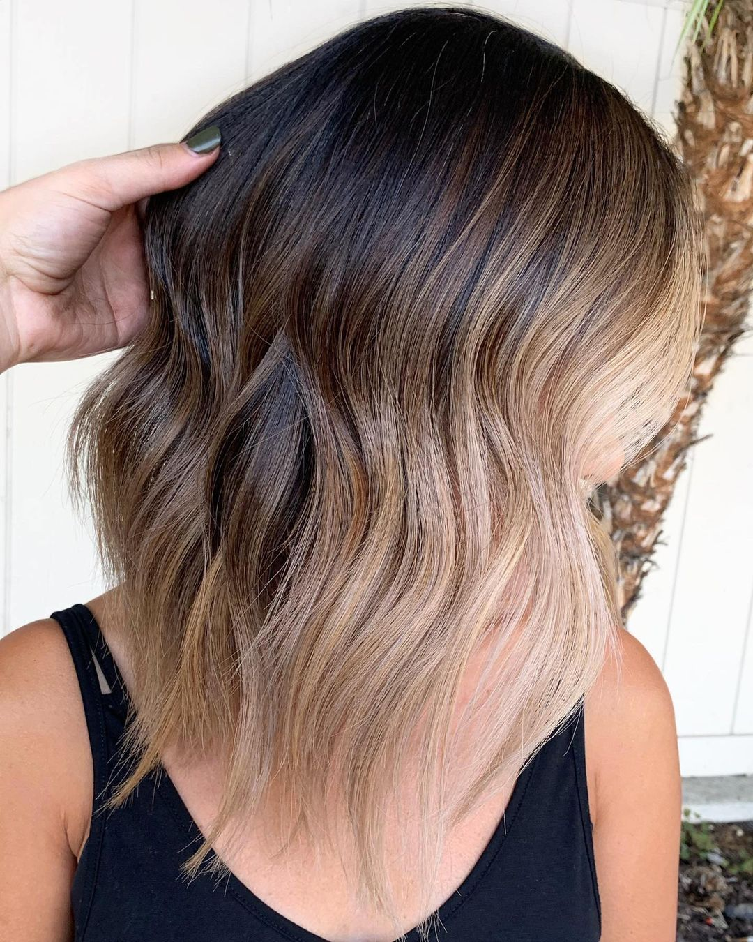 Brown Hair with Blonde Balayage Pieces