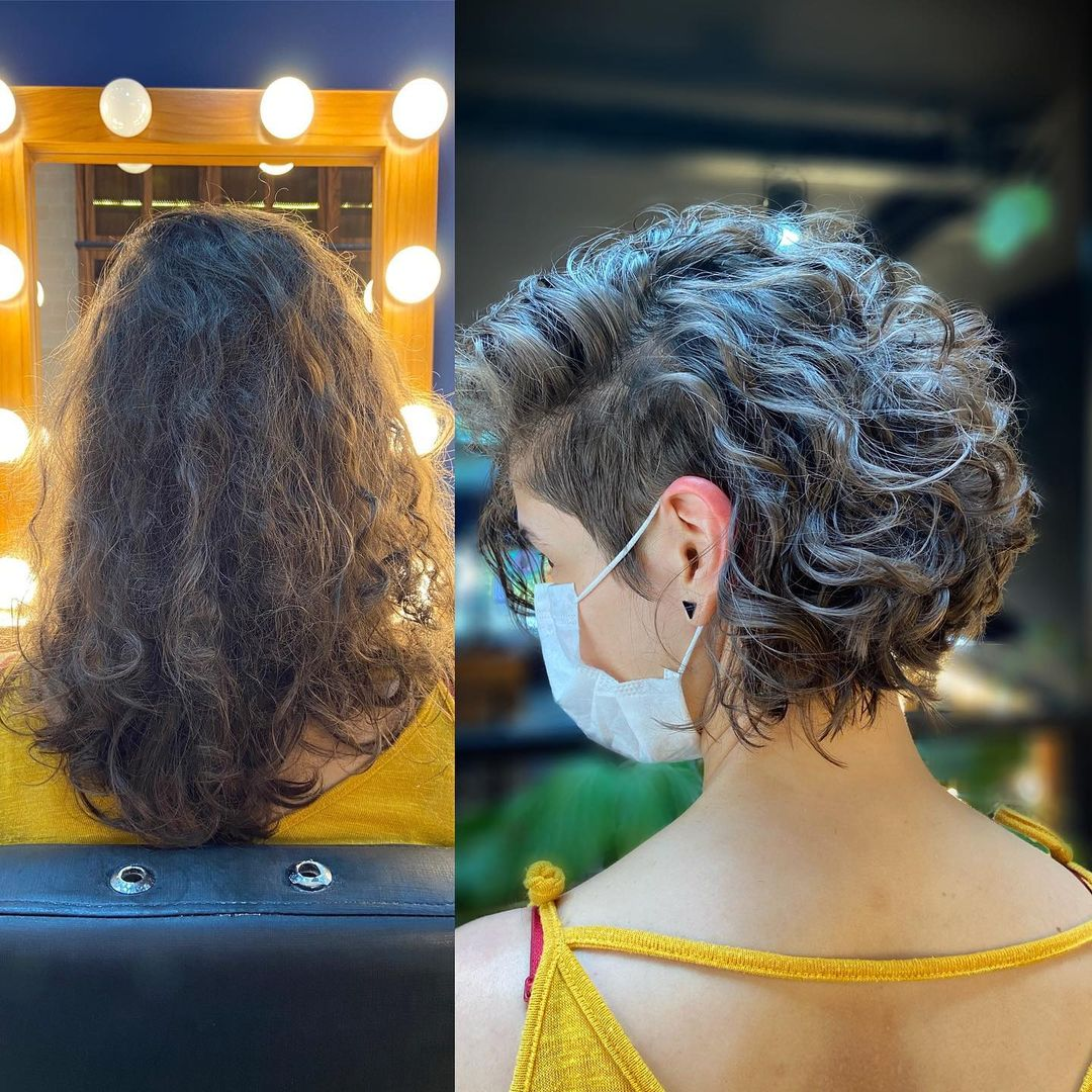 Female Undercut Hairstyle for Curly Hair