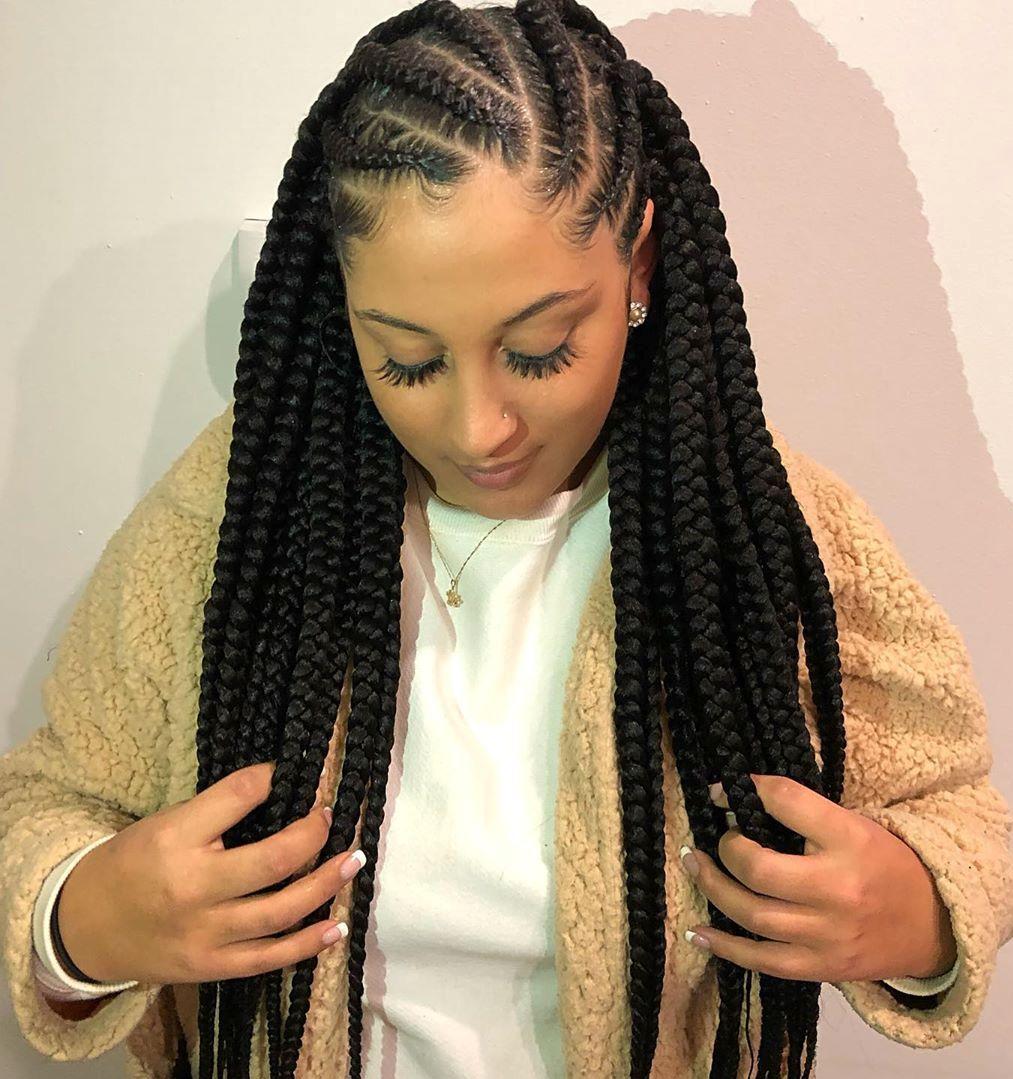 Asymmetrical Goddess Braids