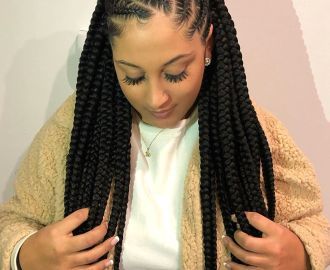 Asymmetrical Goddess Braids