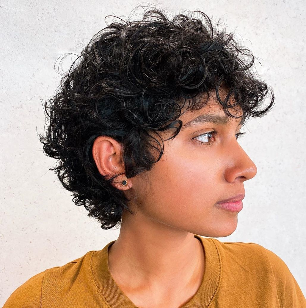 Cute Pixie for Curly Frizzy Hair