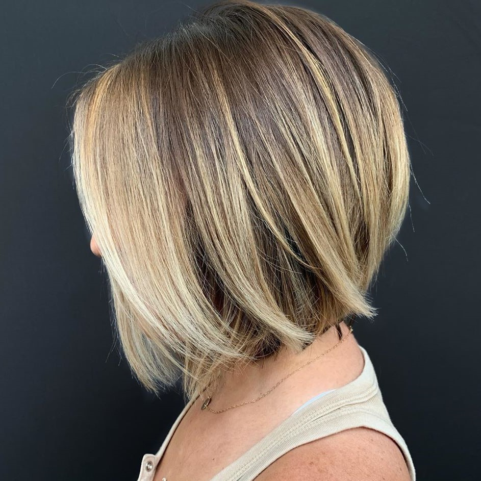 Dishwater Blonde Hair with Platinum Highlights