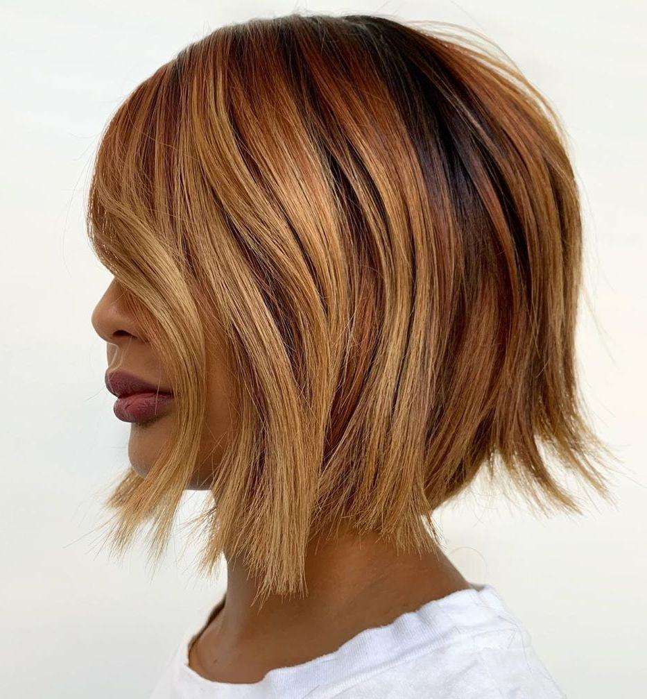 Shaggy Bob for Caramel Hair