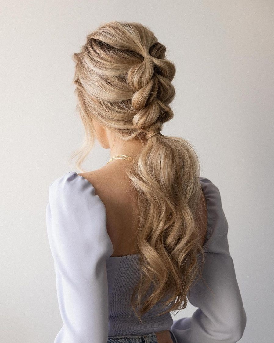 Easy Long Hairstyle with a Braid