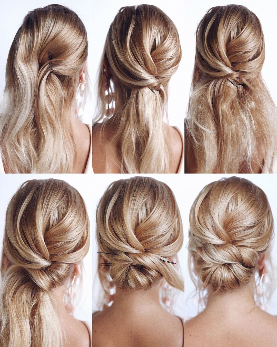Easy Low Bun Work Hairstyle