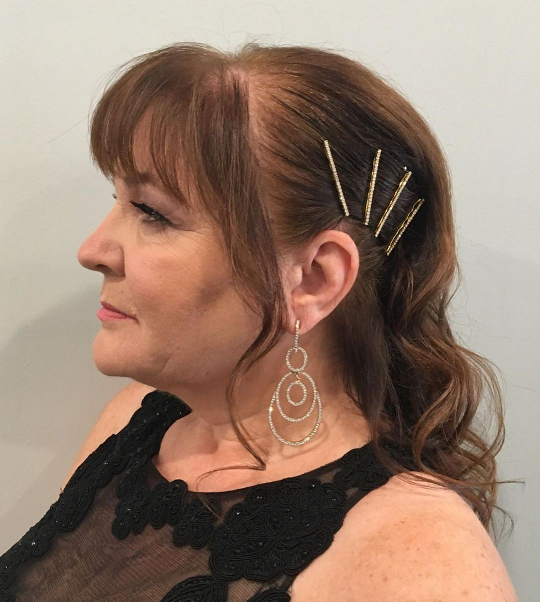Long Hair with Accessories for Older Women