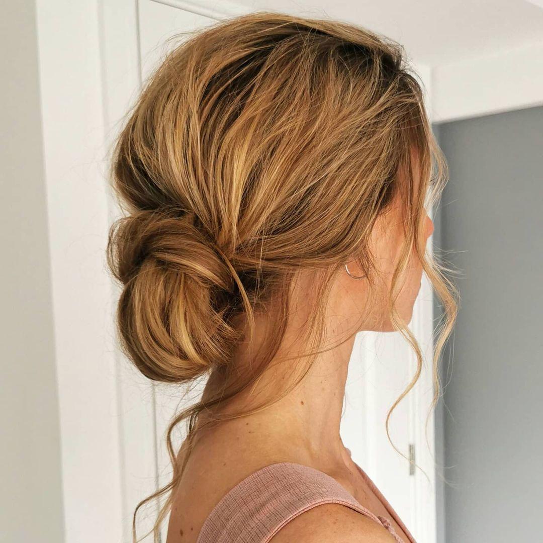 Easy Messy Chignon for Long Hair