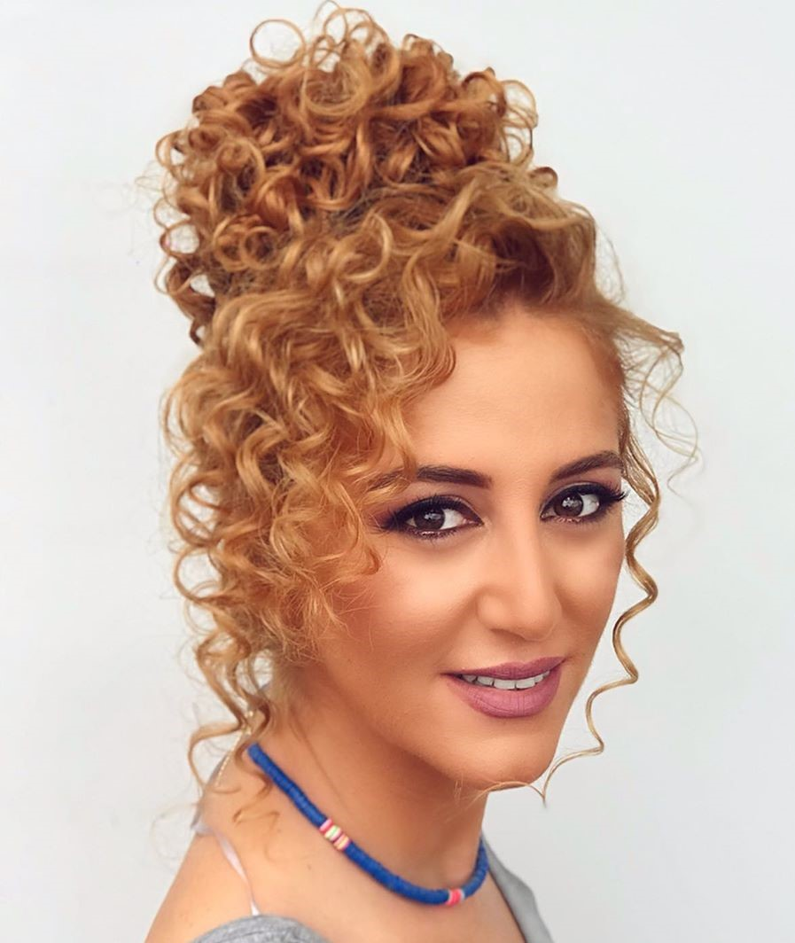 Easy Fancy Updo for Long Curly Hair