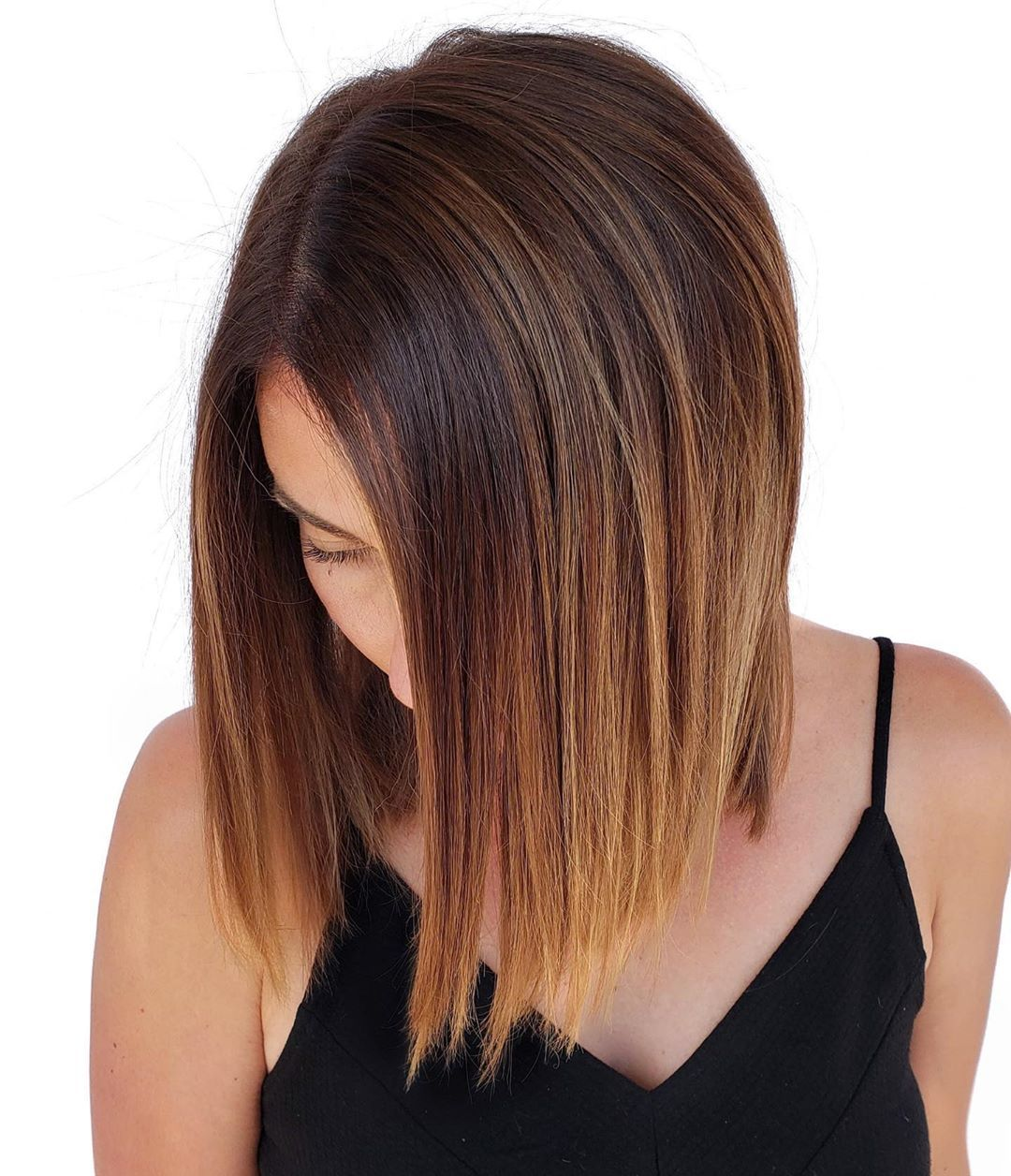 Balayage Bob for Straight Hair