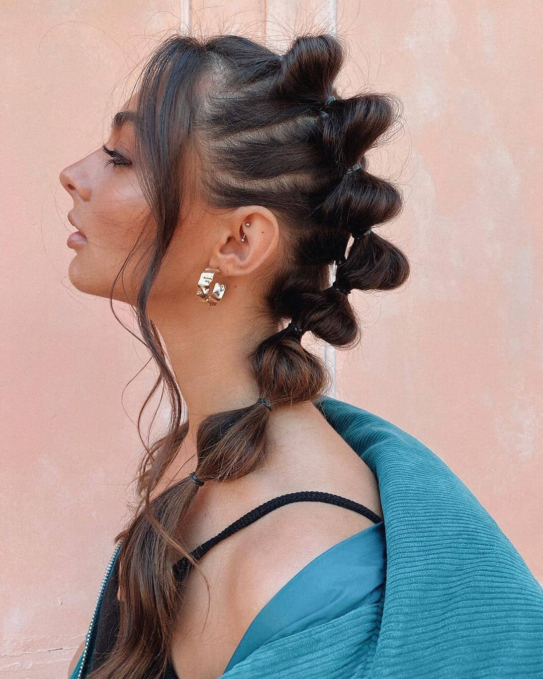 Fall 2021 Bubble Ponytail Braid Trend
