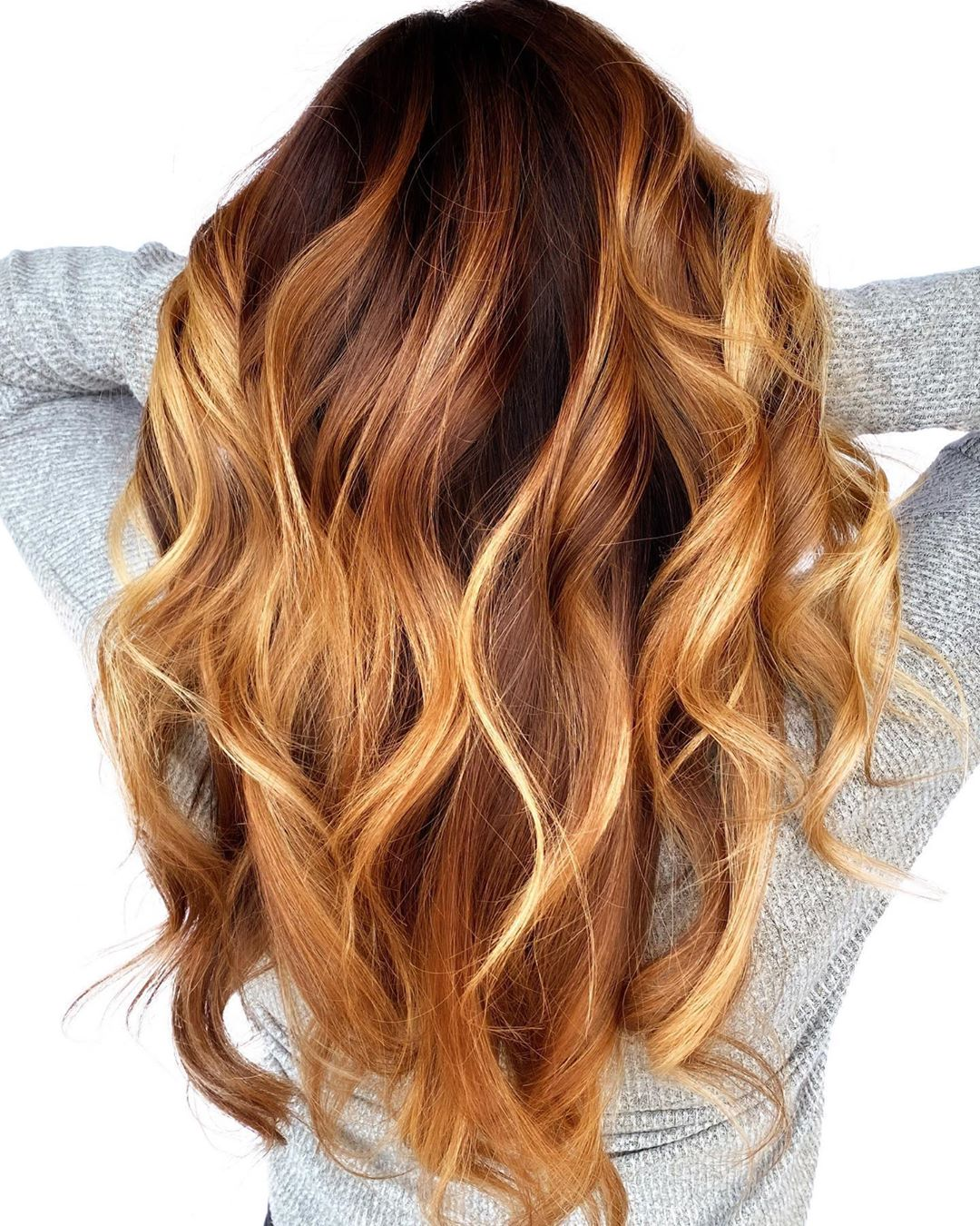 Bright Caramel Balayage Hair