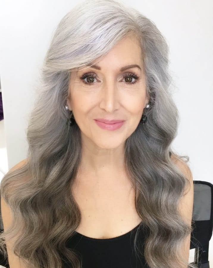 Very Long Hair for Women Over 60