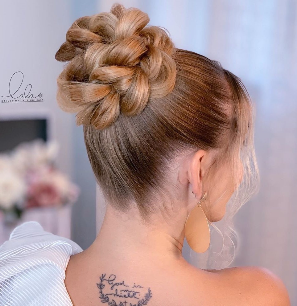 Easy Braided Bun for Prom