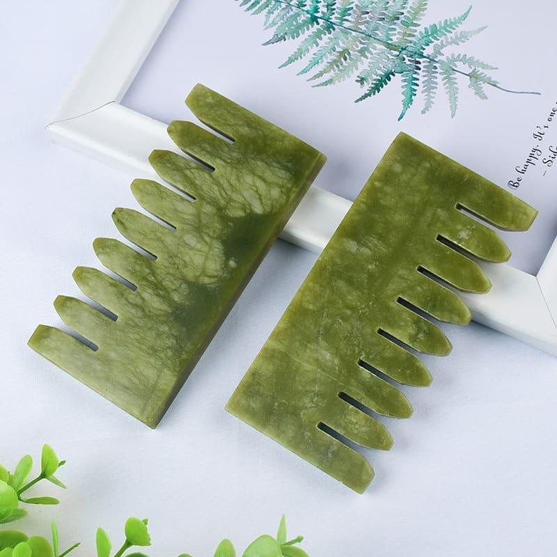 Jade Scalp Massager for Hair Growth