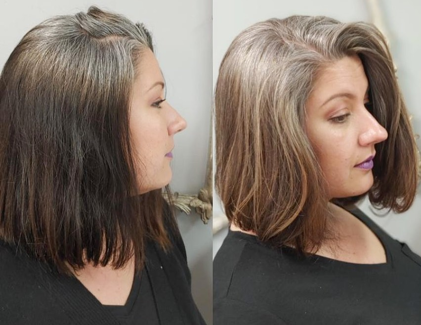 Stripping Color Out of Hair to Go Gray