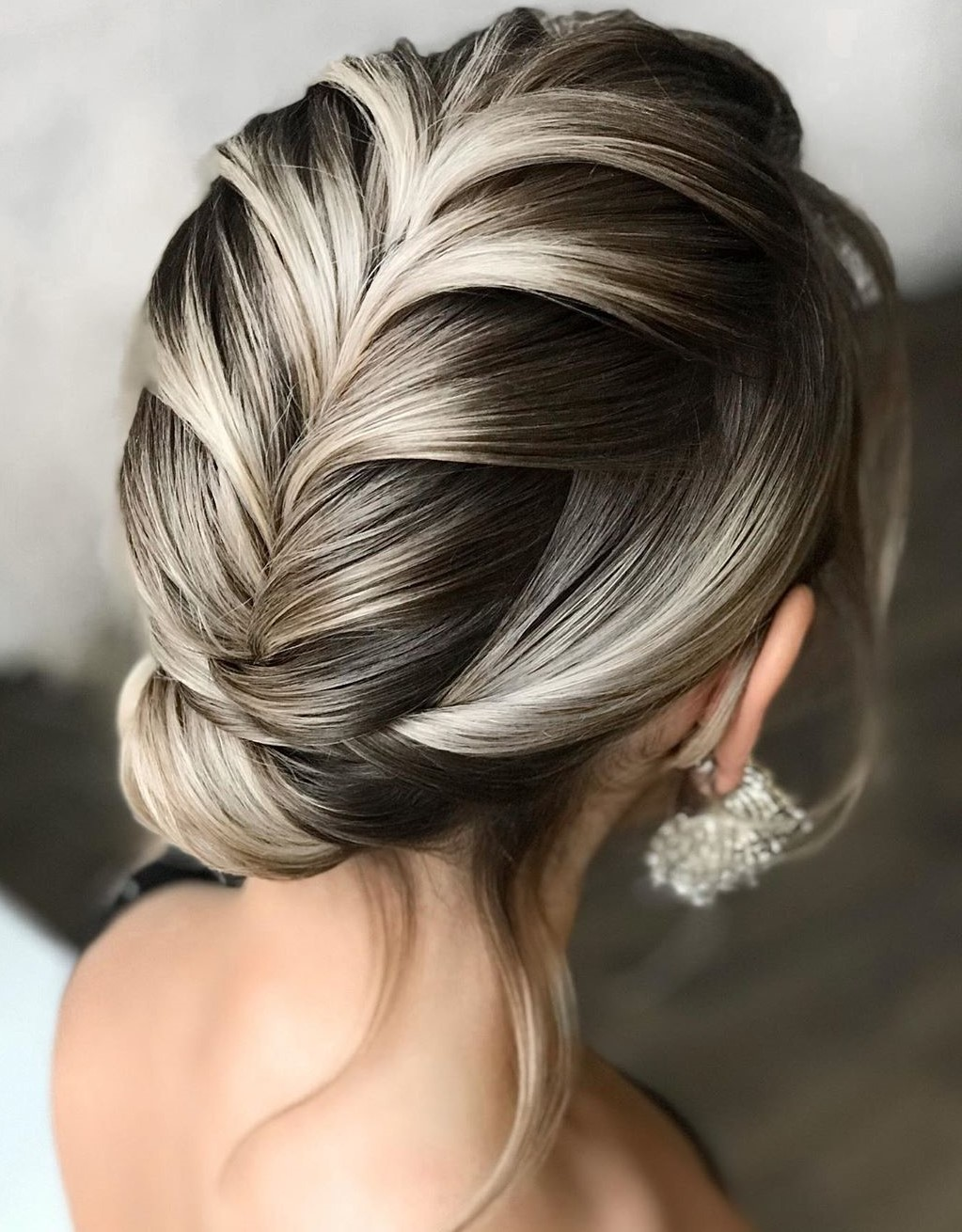 Straight Updo Hairstyle for Ombre Hair