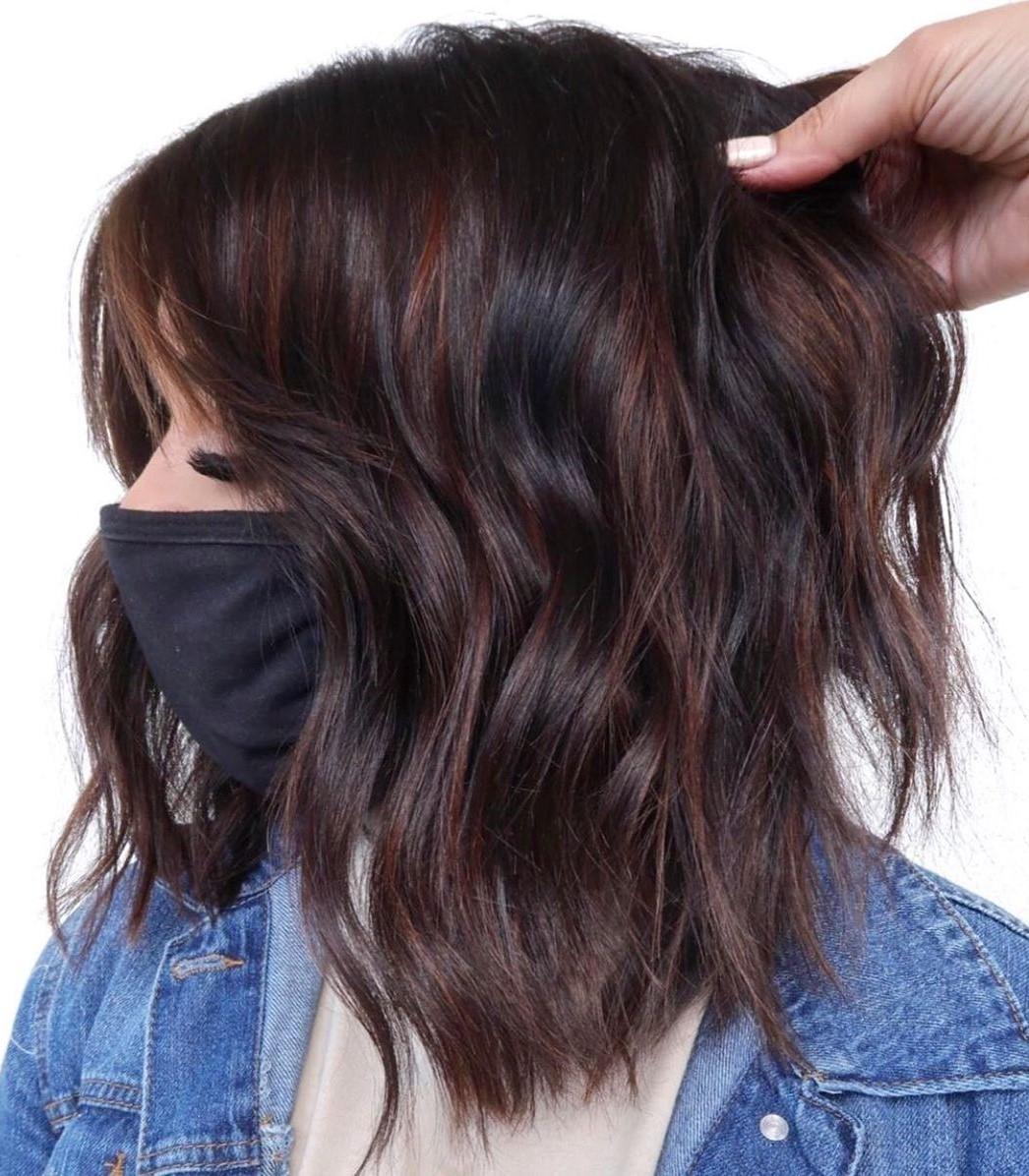 Dark Medium Thick Hair with Balayage