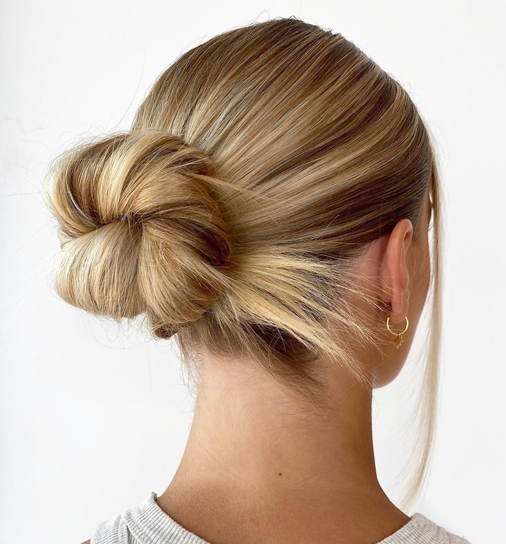 Straight Hair Easy Knotted Bun