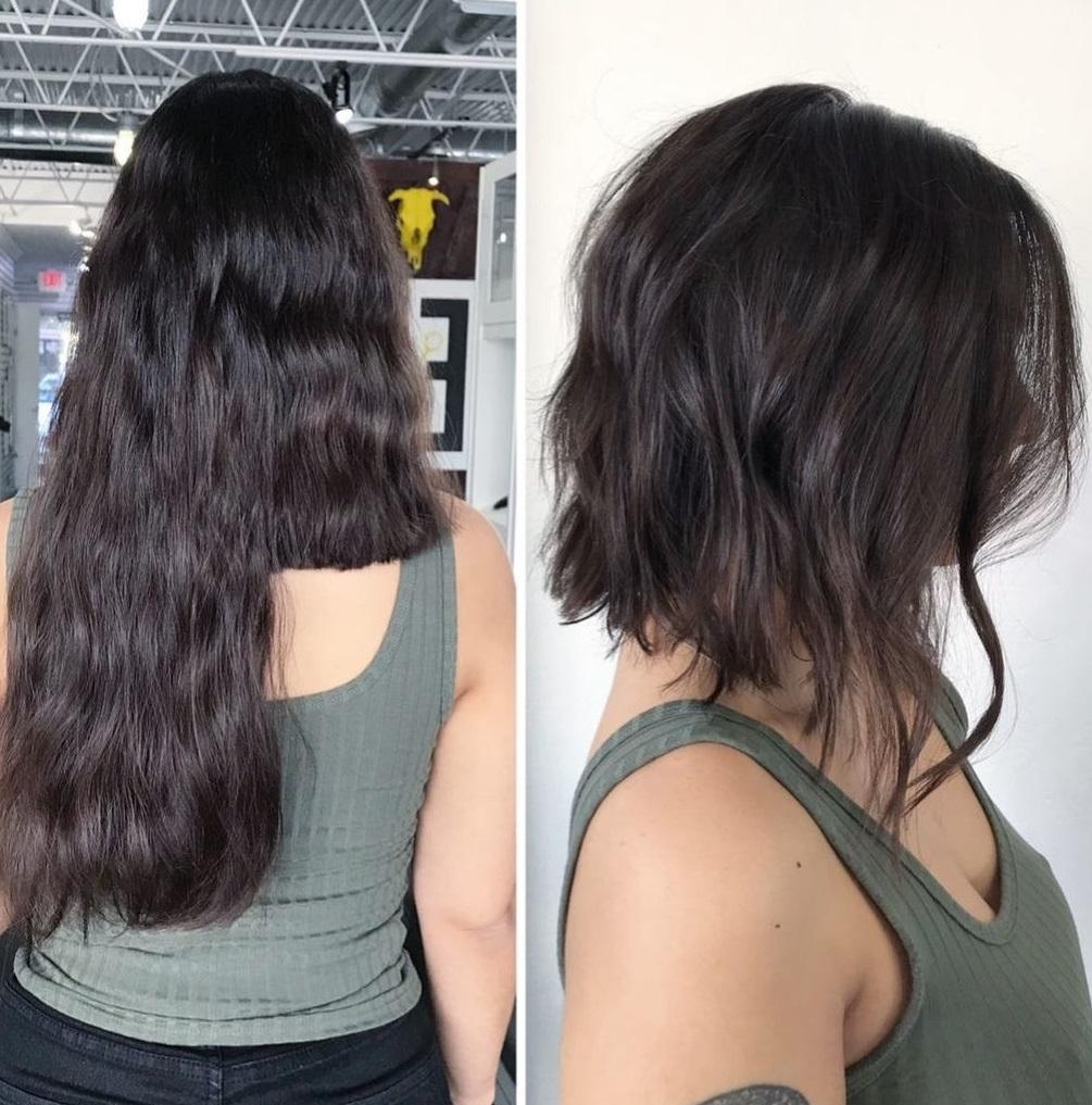 Inverted Long Bob for Wavy Hair