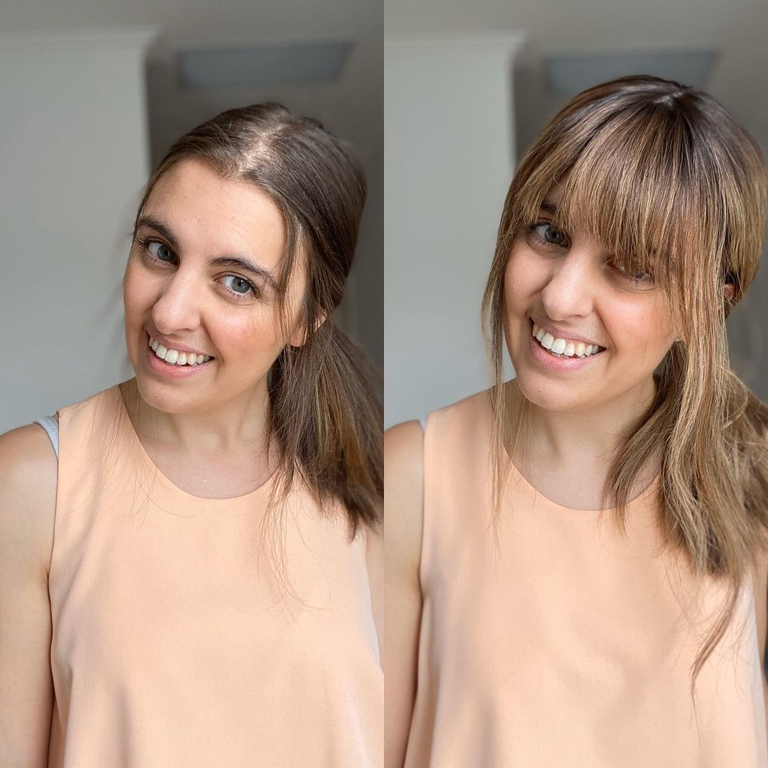 How to Hide Too Short Fringe with Clip In Bangs