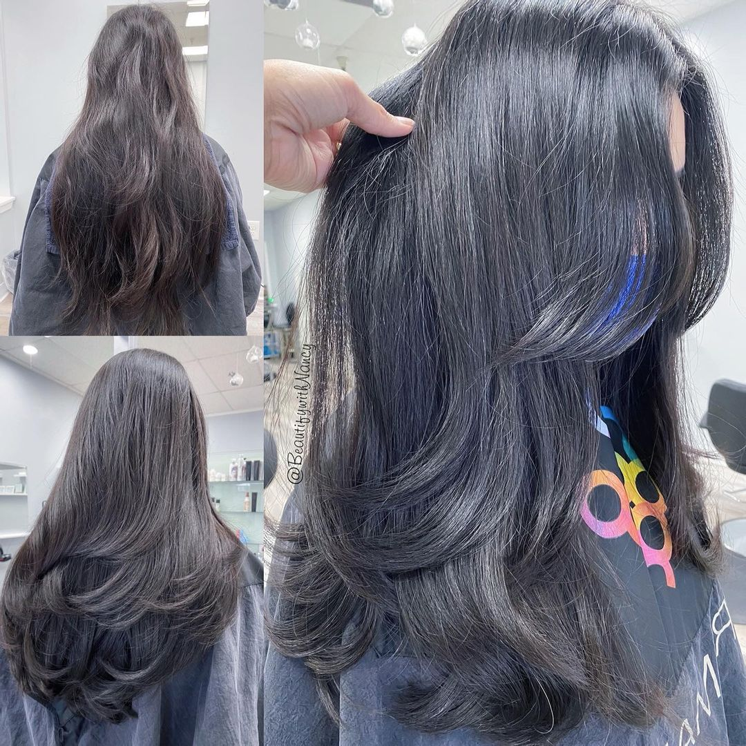 Piece-y Haircut for Long Thick Hair