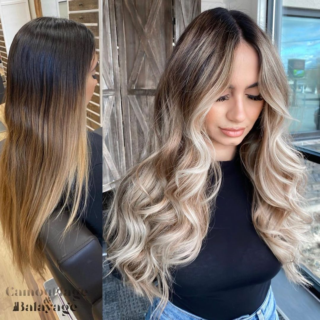 Dirty Blonde Hair with Shadow Roots
