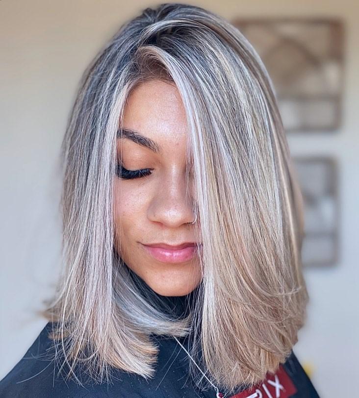 Blunt Lob for Straight Thin Hair
