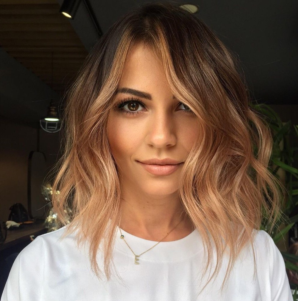 Tousled Midi Cut with Wavy Layers