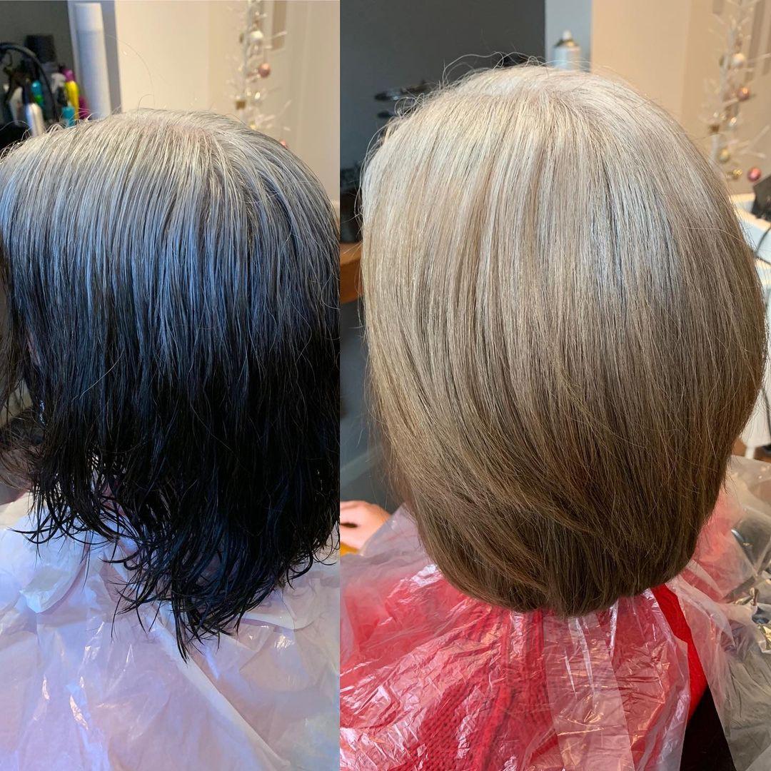 Bleach Bath Before and After Photos Dark Hair