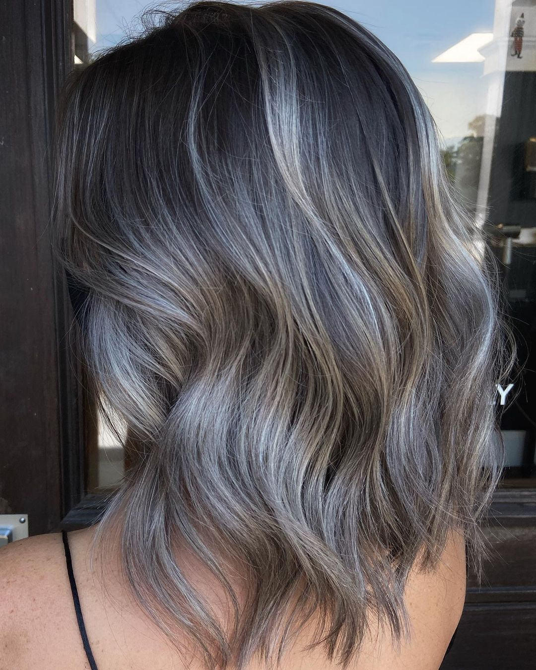 At Home Gray Balayage Maintenance
