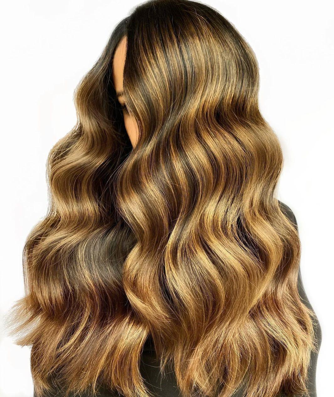 Long Luxurious Honey Gold Hair