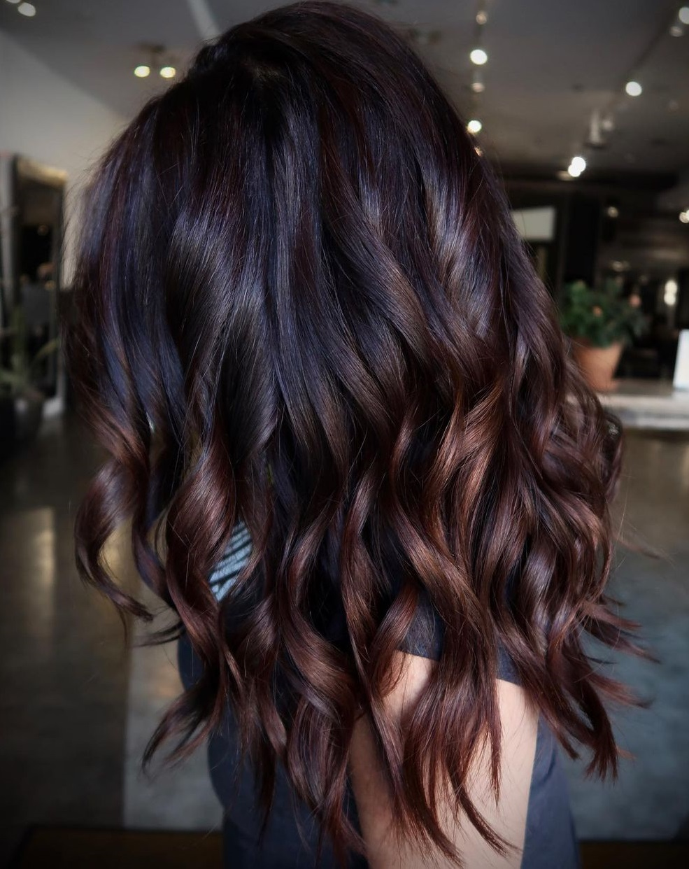 Brown Highlights with Black Roots