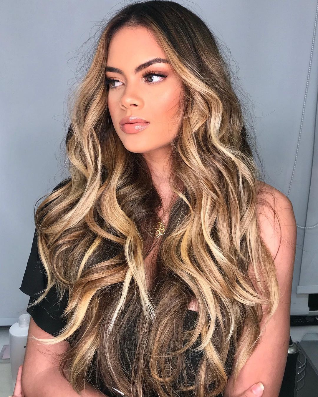 Long Mermaid Hair with Honey Blond Highlights
