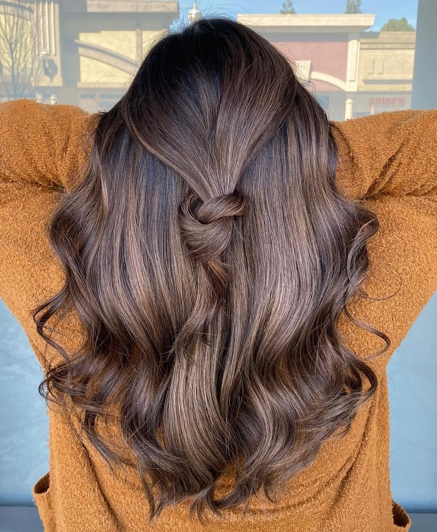Light Chocolate Highlights with Shadow Roots