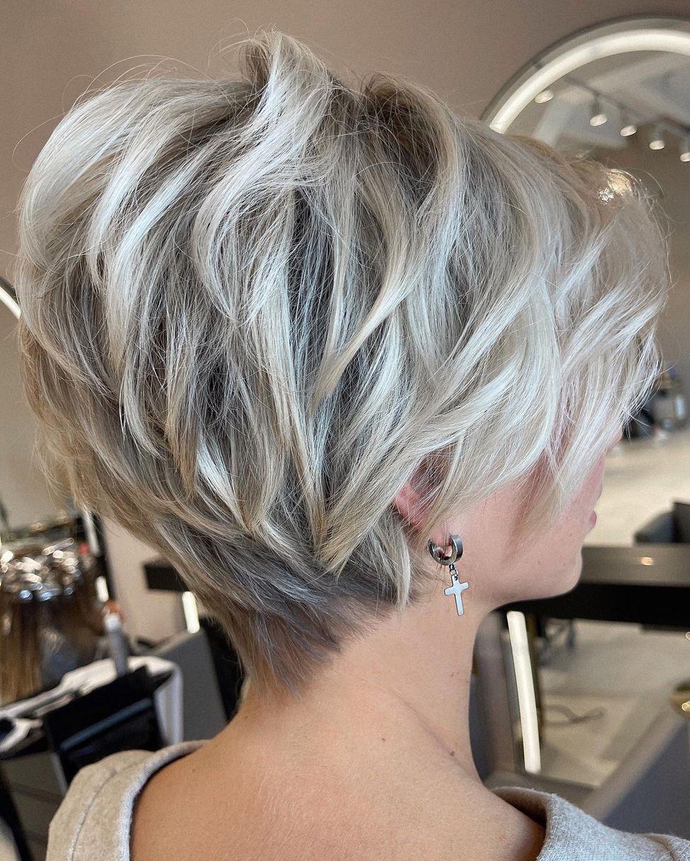 Elegant Pixie Haircut for Thick Hair