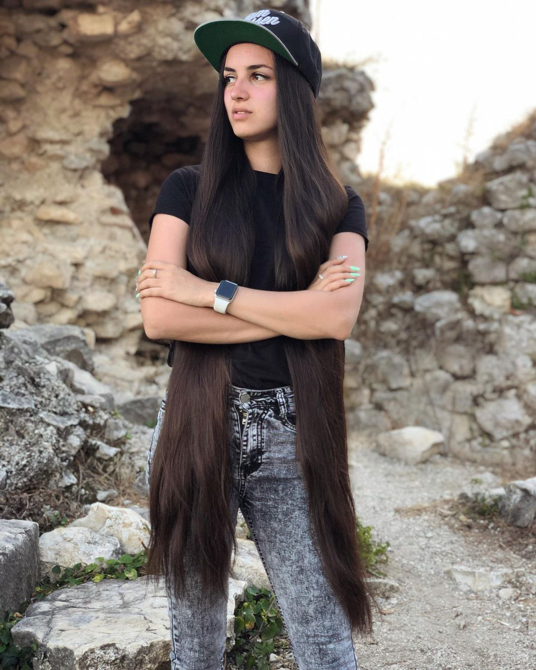 Super Long Brown Hairstyle