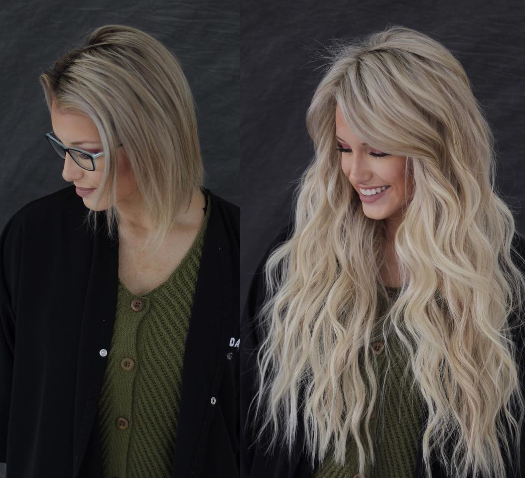 Short to Long Hair Transformation with Extensions