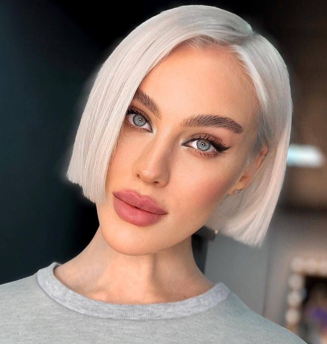 Short Blunt Bob for a Thin Face